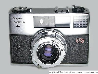 Braun Carl: Super Paxette 35 camera