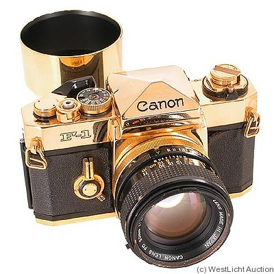 Canon: Canon F-1N Gold camera