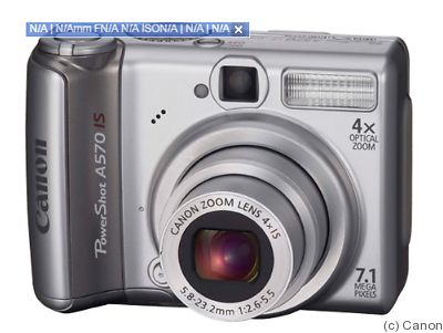 Canon: PowerShot A570 IS camera