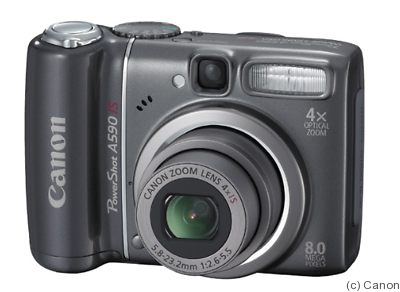 Canon: PowerShot A590 IS camera
