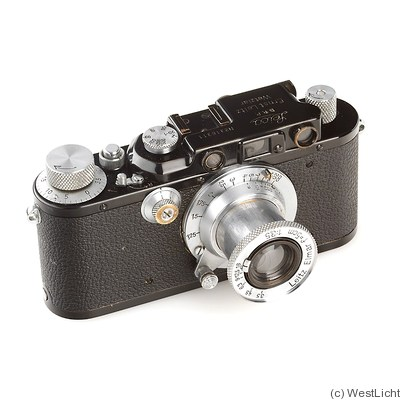 Leitz: Leica III (Mod.F) black/chrome camera