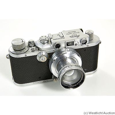 Leitz: Leica III (Mod.F) chrome Tiranty Paris camera