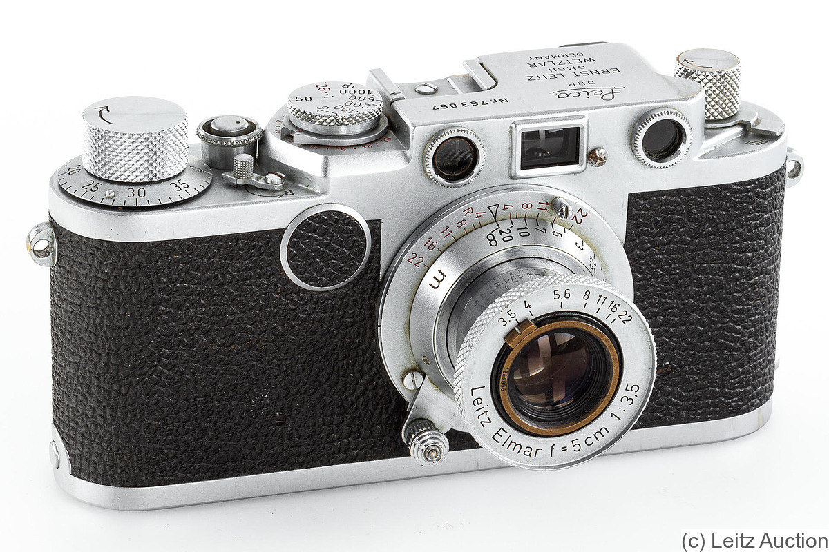 Leitz: Leica IIf (red dial) camera