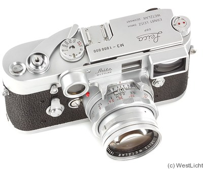 Leitz: Leica M3 chrome (1000000) camera