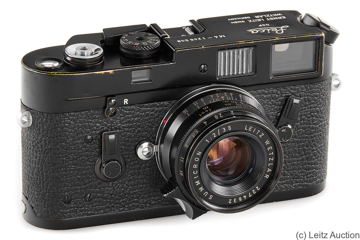 Leitz: Leica M4 black paint camera