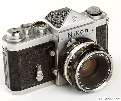 Nikon: Nikon F (eyelevel, chrome, first 100, cloth shutter) camera