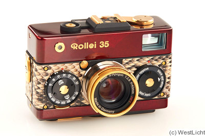 Rollei: Rollei 35 (Red Urushi, prototype) camera