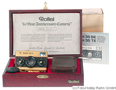 Rollei: Rollei 35S Gold '60 Years' camera