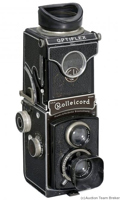 Rollei: Rolleicord II (w/Optiflex) camera
