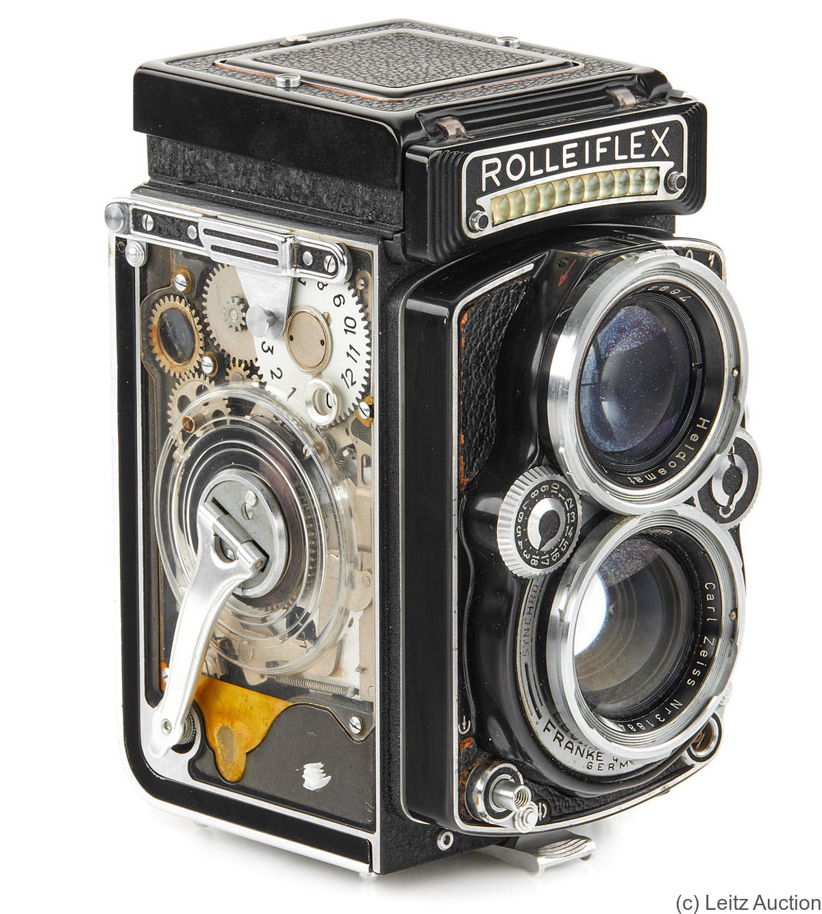 Rollei: Rolleiflex 2.8 Cut-Away camera