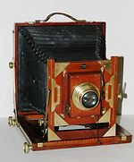 unknown companies: Full-plate English field camera camera
