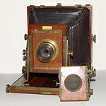 unknown companies: Half-plate French field camera camera