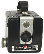 Kodak Eastman: Brownie Hawkeye Flash Model camera