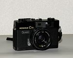 Konishiroku (Konica): Konica C35 (black) camera
