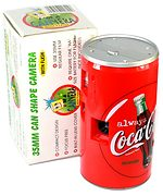 unknown companies: Coca-Cola (can, no pop-up flash) camera