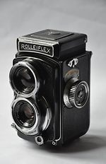 Rollei: Rolleiflex 4x4 Post-War Baby (black) camera