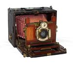 unknown companies: Folding camera, 9x12 plates camera