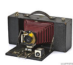 Kodak Eastman: Folding Brownie No.3A (red bellows) camera