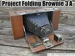 Kodak Eastman: Folding Brownie No.3A camera