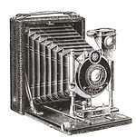 Krügener: Delta Klapp (Folding, Teddy, 1908) camera