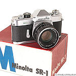 Minolta: Minolta SR-1 chrome camera