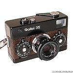 Rollei: Rollei 35 black (brown leather - crocodile) camera
