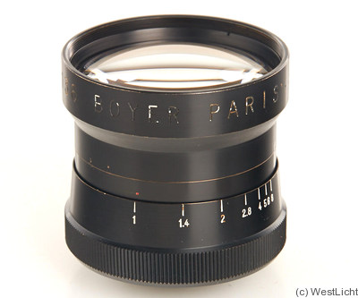 Boyer: 50mm (5cm) f1.0 Saphir camera