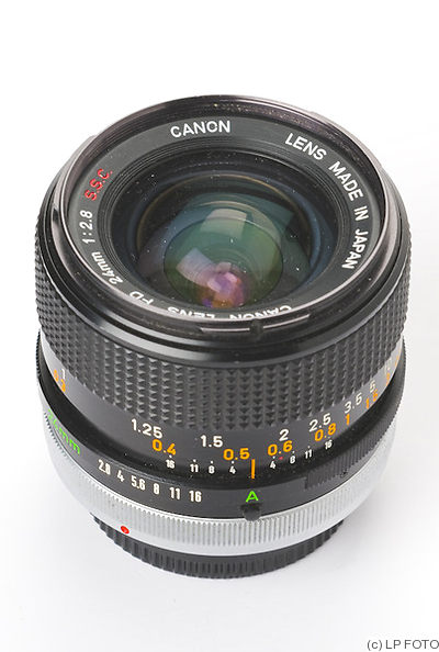 Canon: 24mm (2.4cm) f2.8 FD S.S.C camera