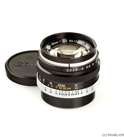 Canon: 50mm (5cm) f2.2 (SM, black) camera