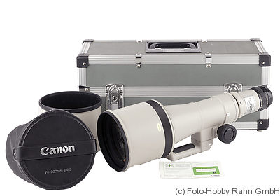 Canon: 600mm (60cm) f4.5 FD camera