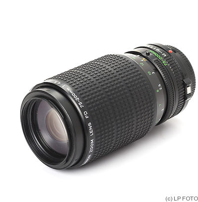 Canon: 75-200mm f4.5 FDn camera