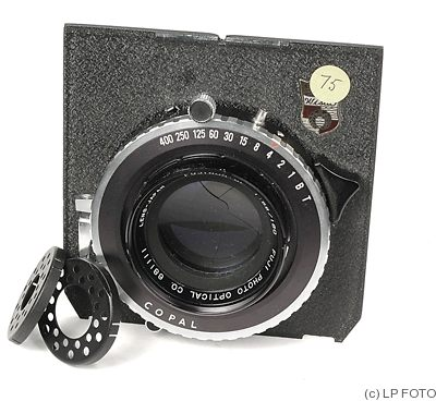 Fuji Optical: 180mm (18cm) f5.6 Fujinon SF (Copal, Wista) camera