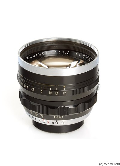 Fuji Optical: 50mm (5cm) f1.2 Fujinon (M39) camera