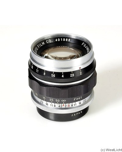 Fuji Optical: 50mm (5cm) f2 Fujinon L (M39) camera