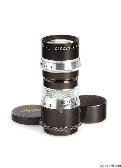 Meyer, Hugo: 105mm (10.5cm) f2.8 Trioplan T (M39) camera