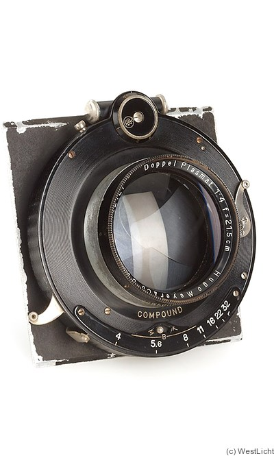 Meyer, Hugo: 215mm (21.5cm) f4 Doppel Plasmat (compound) camera
