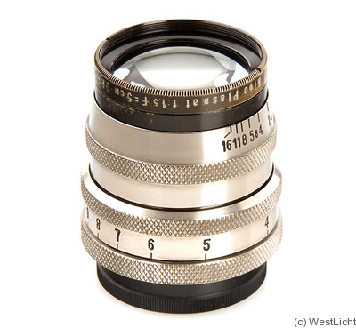 Meyer, Hugo: 50mm (5cm) f1.5 Kino-Plasmat (M39, black/nickel) camera
