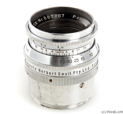 Meyer, Hugo: 58mm (5.8cm) f1.9 Primoplan (exakta, w/M39 adapter) camera