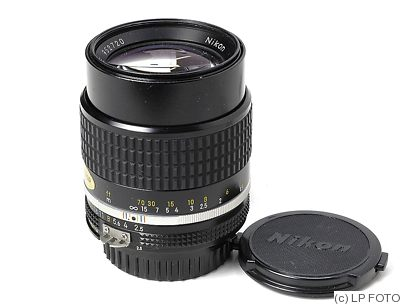 Nikon: 105mm (10.5cm) f2.5 Nikkor (AIS) camera