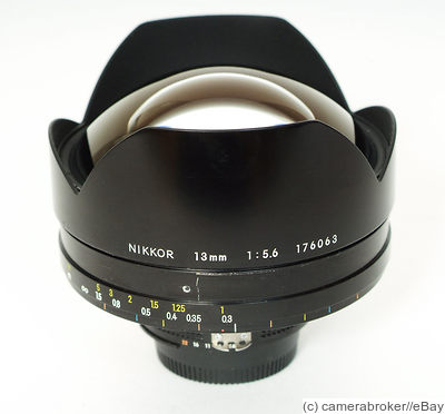 Nikon: 13mm (1.3cm) f5.6 Nikkor camera