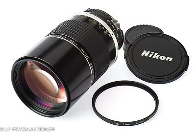 Nikon: 180mm (18cm) f2.8 Nikkor ED* (AI) camera