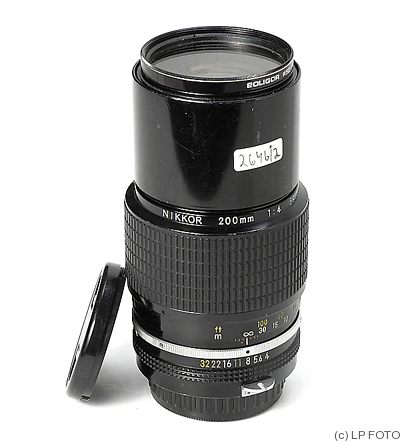 Nikon: 200mm (20cm) f4 Nikkor camera