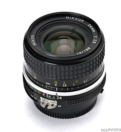 Nikon: 24mm (2.4cm) f2.8 Nikkor (AI) camera