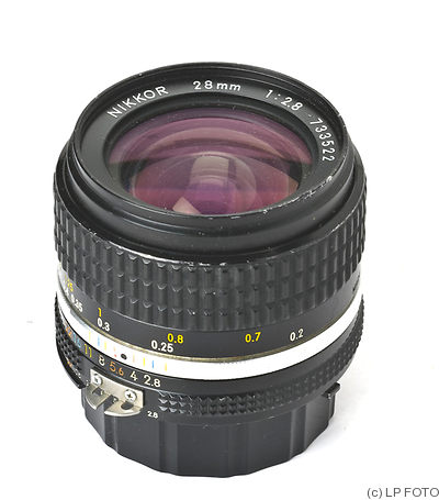 Nikon: 28mm (2.8cm) f2.8 Nikkor (AIS) camera