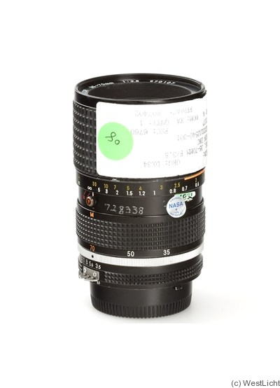 Nikon: 35-70mm f3.5 Zoom-Nikkor (AIS) 'NASA' camera