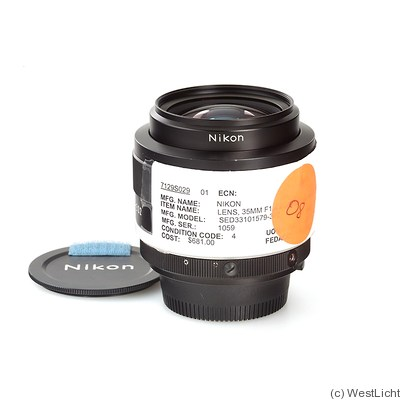 Nikon: 35mm (3.5cm) f1.4 Nikkor (AIS) 'NASA' camera