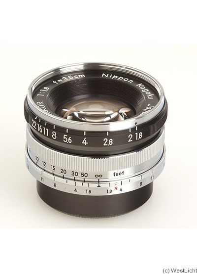 Nikon: 35mm (3.5cm) f1.8 W-Nikkor (M39) camera