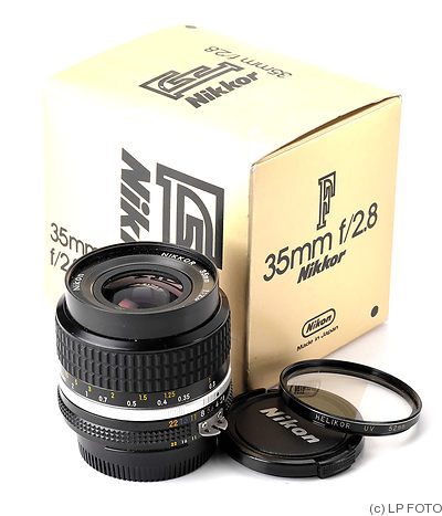 Nikon: 35mm (3.5cm) f2.8 Nikkor (AIS) camera