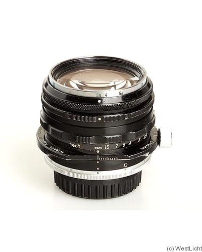 Nikon: 35mm (3.5cm) f3.5 PC-Nikkor camera