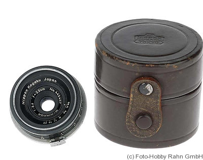 Nikon: 35mm (3.5cm) f3.5 W-Nikkor (BM, black) camera